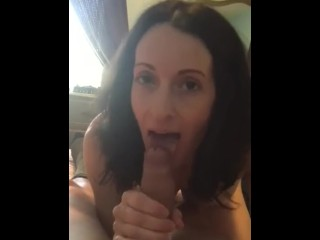 Brunette slave lick cock and pissing