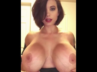 Busty sexy Charlie teasing and pleasing