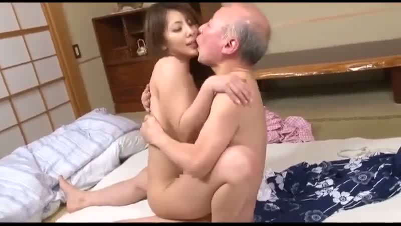 The naked girl kissing a boy